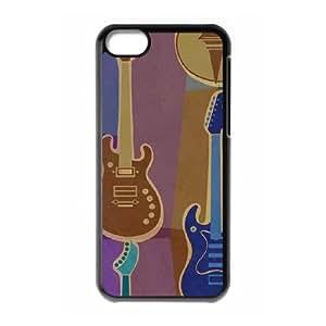 Retro Guitar Pattern iPhone 5c Cell Phone Case Black DIY GIFT pp001_8956298