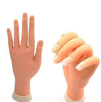 Amazon Missaj Training Hand Flexible Practice Nail Art Trainer
