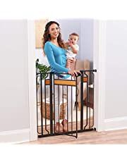 Regalo Home Accents Extra Tall and Wide Walk Thru Baby Gate, 4-Inch Extension Kit, 4-Inch Extension Kit, 4 Pack of Pressure Mount Kit