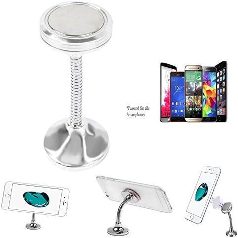 Aldi Medion life E4506 Smartphone Soporte Magnético Barra 360 ° Soporte para teléfono móvil para coche salpicadero/oficina – Bracket Silver: Amazon.es: Informática