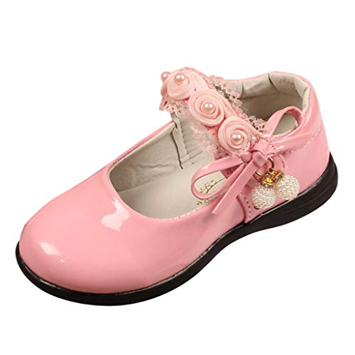 Baby Shoes, XEDUO Infant Kids Baby Girls Pearl Pendant Flower Lace Decoration Princess Shoes Leather Single Shoes