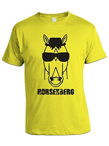 Horsenberg Heisenberg Breaking Bubbleshirt Giallo Serie Humor Parody Bad Horseman Bojack Tshirt Tv tgyq4F
