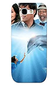 Durable Dolphin Tale Back Case/cover For Galaxy Note 2 by supermalls