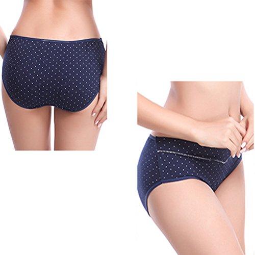 Zhhlinyuan Women Underwear Cotton Pregnancy Cozy Lingerie Low Waist U type Underwear Purple