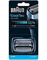 Braun CoolTec vervangende scheerkop 40B blauw