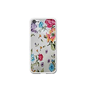 Simple Design Drawing Flowers for White Iphone 5c Phone Shell Cover