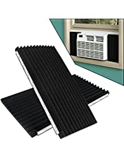 Air Jade Window Air Conditioner Insulation Side Foam Panel Kit, 17 in x 9 in x 7/8 in Insulated AC Side Panels, Pack of 2, Black