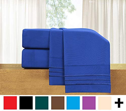 Elegant Comfort  4-Piece Sheet Set-Luxury Bedding 1500 Thread Count Egyptian Quality Wrinkle and Fade Resistant Hypoallergenic Cool & Breathable, Easy Elastic Fitted, Queen, Imperial Blue