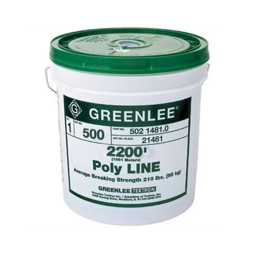 Greenlee Textron 37959 Poly Tracer Fish Line, 2200-Feet, Red