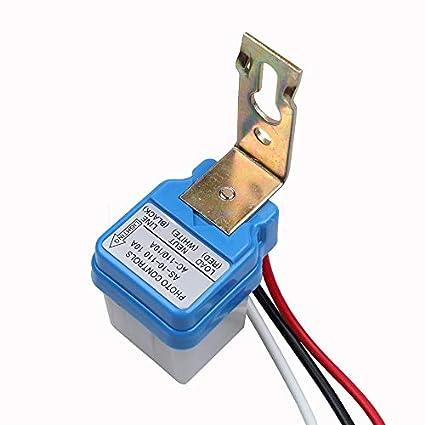 10pcs  Auto On Off Light Switch Photo Control Sensor for AC 110V 10A
