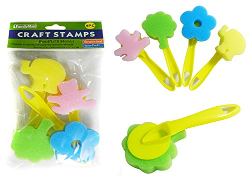 DollarItemDirect Craft Stamp with Handles 4 pcs, Case of 144 by DollarItemDirect