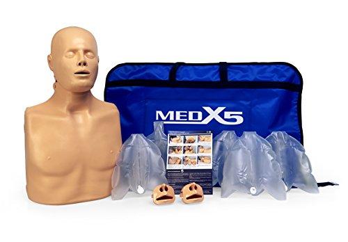 Medx5 HLW Übungspuppe für Wiederbelebung, Trainingspuppe für Erste Hilfe Training, Reanimationspuppe, Wiederbelebungspuppe