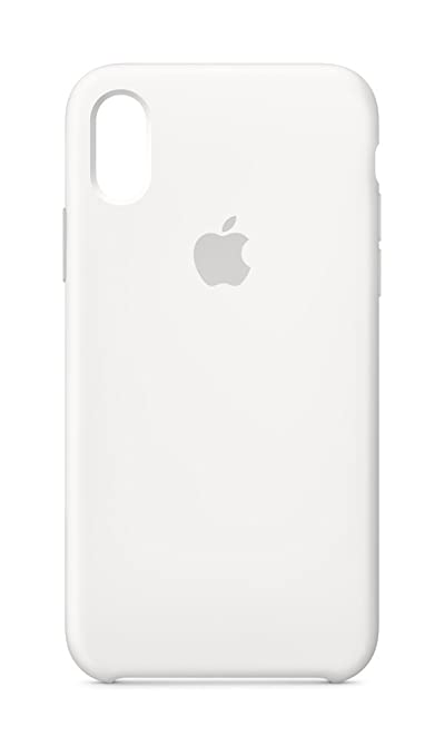 the best attitude e62f2 3e3ca Apple Silicone Case (for iPhone X) - White - MQT22ZM/A
