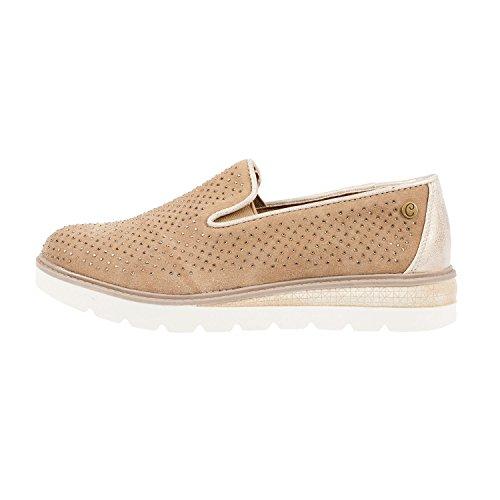 Carmela Women's Suede Slip on Moccasin Shoe (65560) Taupe MrNagE