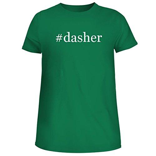 Reindeer Spun Glass (BH Cool Designs #Dasher - Cute Women's Junior Graphic Tee, Green, XX-Large)