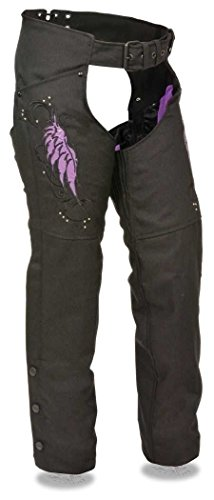 Milwaukee Women's Motorcycle Motorbike Textile CHAP Purple Embroidery Reflective Black New (L Regular)