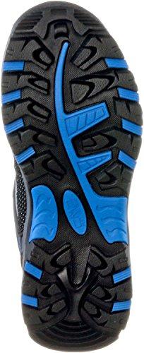 CMP Rigel - zapatillas de trekking y senderismo de cuero niña gris/azul