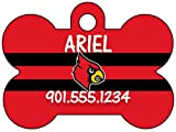 Louisville Cardinals Dog Tag Pet Id Tag Personalized w/ Name & Number