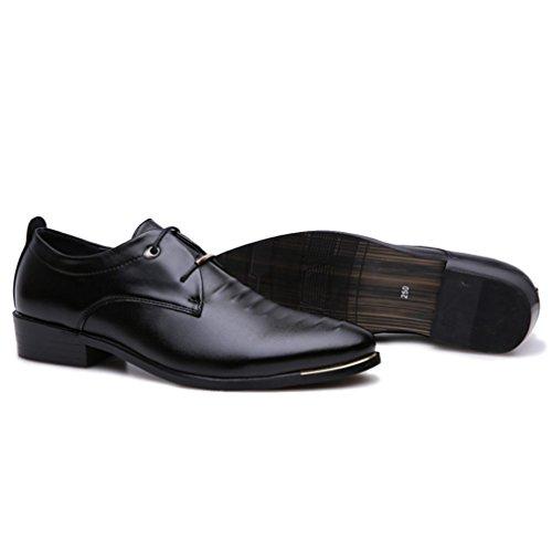 Classiche Scarpe Da Lavoro Oxford Da Uomo In Stile British Xmwealthy Nere