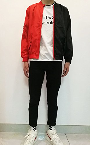 Encontrar Boys Colorblock Poly Twill Jacket Red And Black Size 13 14