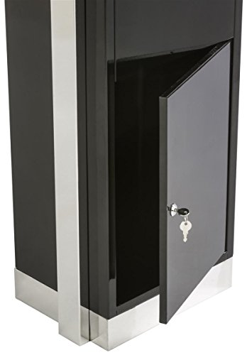 Displays2go Heavy Duty Suggestion Comment Box, Floor Standing Mail Slot, Locking (FLSDSUGBK) by Displays2go (Image #2)