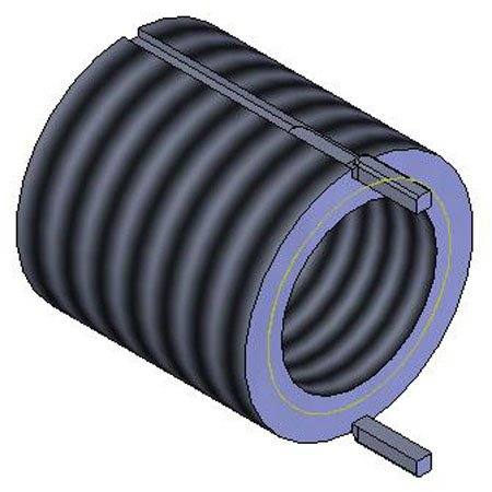 Keylocking Threaded Inserts M12 x 1.75 Int Steel Heavy Duty THD THD M18 x 1.5 Ext 18 Lg 1 Each