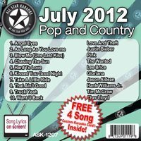 All Star Karaoke Pop and Country Hits Series (ASK-1207) (Jason Aldean Karaoke Cd)