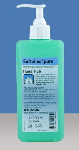 B Braun Softalind 500ml Hand Rub Amazon Co Uk Health Personal Care