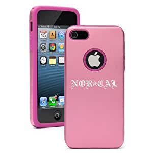 Apple iPhone 5 5S Pink 5D4685 Aluminum & Silicone Case Cover Nor Cal