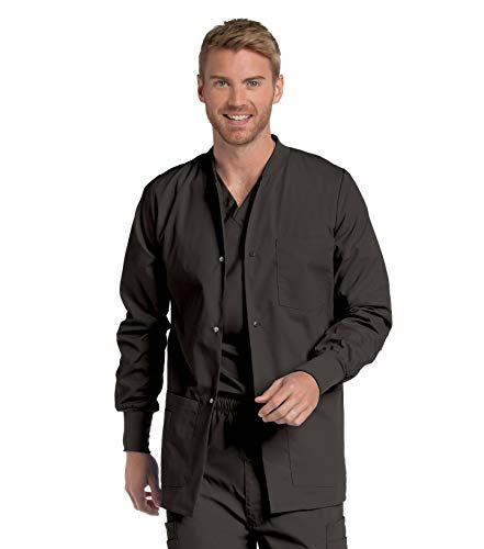 Landau Men's Premium 4-Pocket Classic Fit Warm-Up Medical Scrub Jacket