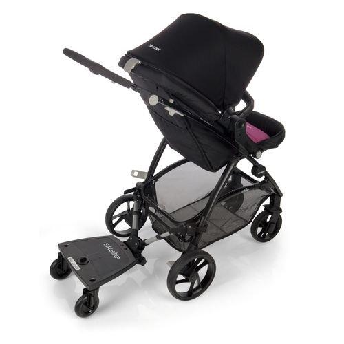 Plataforma para carrito de bebé de Be Cool, como plataforma o asiento, con 3 ruedas, negro: Amazon.es: Bebé
