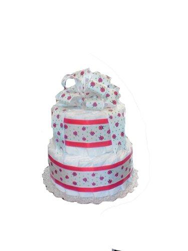 Ladybug Dots Baby Shower Diaper Cake (2 Tier), Health Care Stuffs