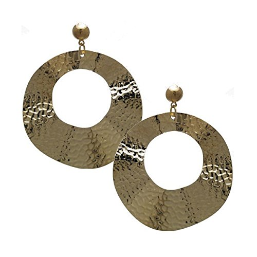 TaliTALISMAN Gold Clip On Earringssman Boucles d'or Message