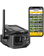 VOSKER V150 | LTE Cellular Security Camera, No Wi-Fi Needed | Solar-Powered Wireless Outdoor Surveillance Camera | Receive Photos on Your Mobile App (NO Video) | Weather-Resistant IP65