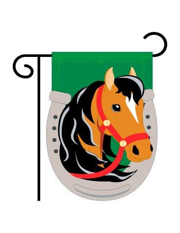 1 Horse Garden Flag Indoor/outdoor 13.5u0026quot; ...