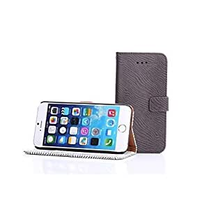 PG HHMM A zebra grain Can Insert Card PU Leather Cases with Stand for iPhone 6 plus Case 5.5 inch(Brown)