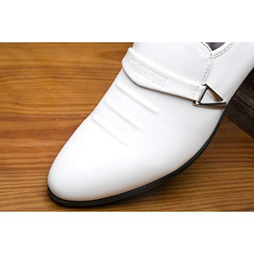 da Formale Sposa Oxford Tempo Scarpe Libero Pelle per Scarpe Bianca in Uomo Derby Uomo Scarpe Juleya per Scarpe da Il 48 38 OqfAnPxT