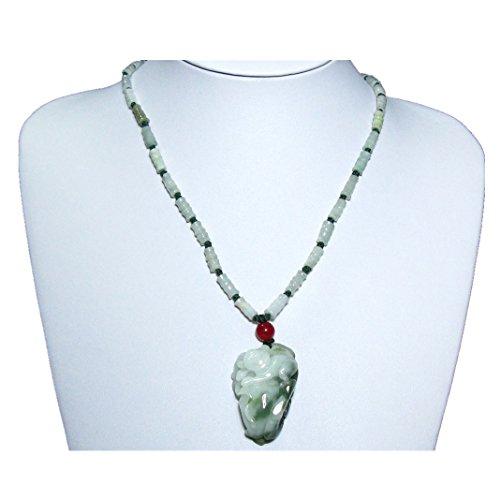 Necklace & Pendant-Fortune monkey , Certifided Jadeite Jade necklace