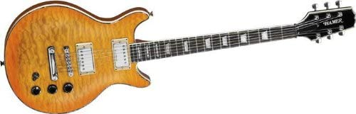Hamer Xt Series Sunburst - Guitarra eléctrica (acolchada): Amazon ...
