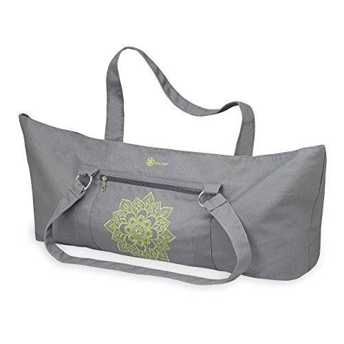 Gaiam 05-62014 Yoga Mat Tote Bag, Citron (Embroidered Mat Standard)