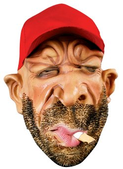 STUBBY THE STONER - Halloween Latex Mask with scruffy beard and hat - (Pmg Halloween Masks)