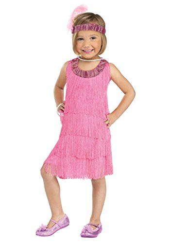 Fun World Costumes Baby Girl's Flapper Toddler Costume, Pink,XL  4-6 - Child Flapper Dress