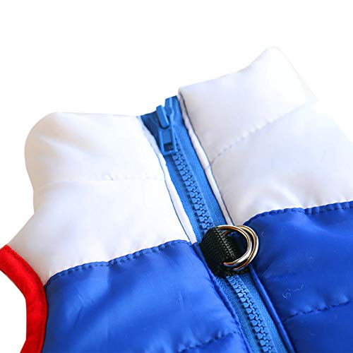Cat Dog Patchwork Coat Jacket Pet Supplies Clothes Winter Apparel Puppy Costume Thickened Wave Cotton-Padded Warm Jacket Puppy Sweatshirt Cat Sweater Dog Outfits Puppy Shirt (Red, XL) by succeedtop (Image #3)