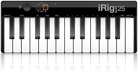 IK Multimedia iRig Keys 25 25-key compact keyboard MIDI controller for Mac/PC
