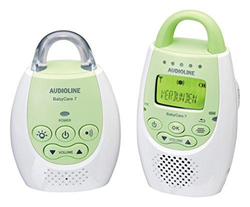 Audioline Baby Care 7 Babyphone mit digitaler, rauschfreier Funkübertragung