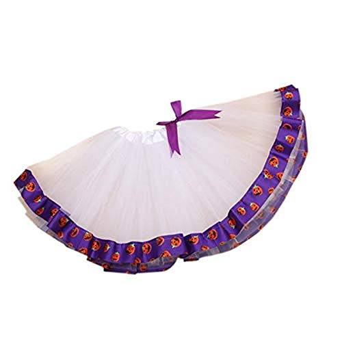 Dream Room Halloween Costume, Newborn Infant Baby Girls Romper+Tutu Skirt Jumpsuit Halloween Outfits (Purple)]()