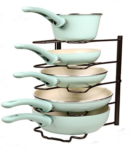 Ace Chef (Bronze) Kitchen Storage Solutions Cabinet Pan Rack Organizer Kitchen Shelves Pot Rack Pot Holder for