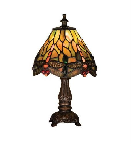 11.5 Inch H Hanginghead Dragonfly Mini Lamp Table Lamps