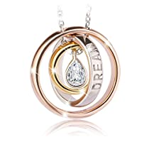 Necklace, Sterling Silver Pendant Necklace Mothers day gift J.Rosée Fine Jewelry for Women Dream Ideal Gifts for Daughter Girlfriend Mom Wife,18+2Extender
