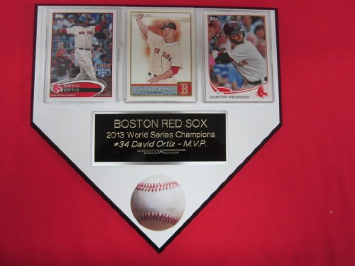 Boston Red Sox 2013 WORLD SERIES CHAMPIONS 3 Card Collector HOME PLATE Plaque EXCLUSIVE DESIGN to AMAZON!